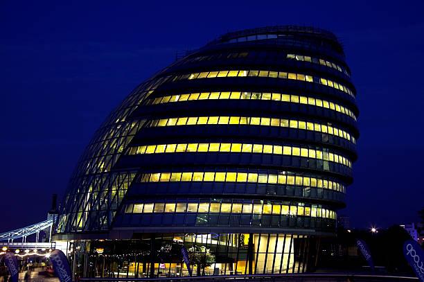 City Hall At Night stock photo