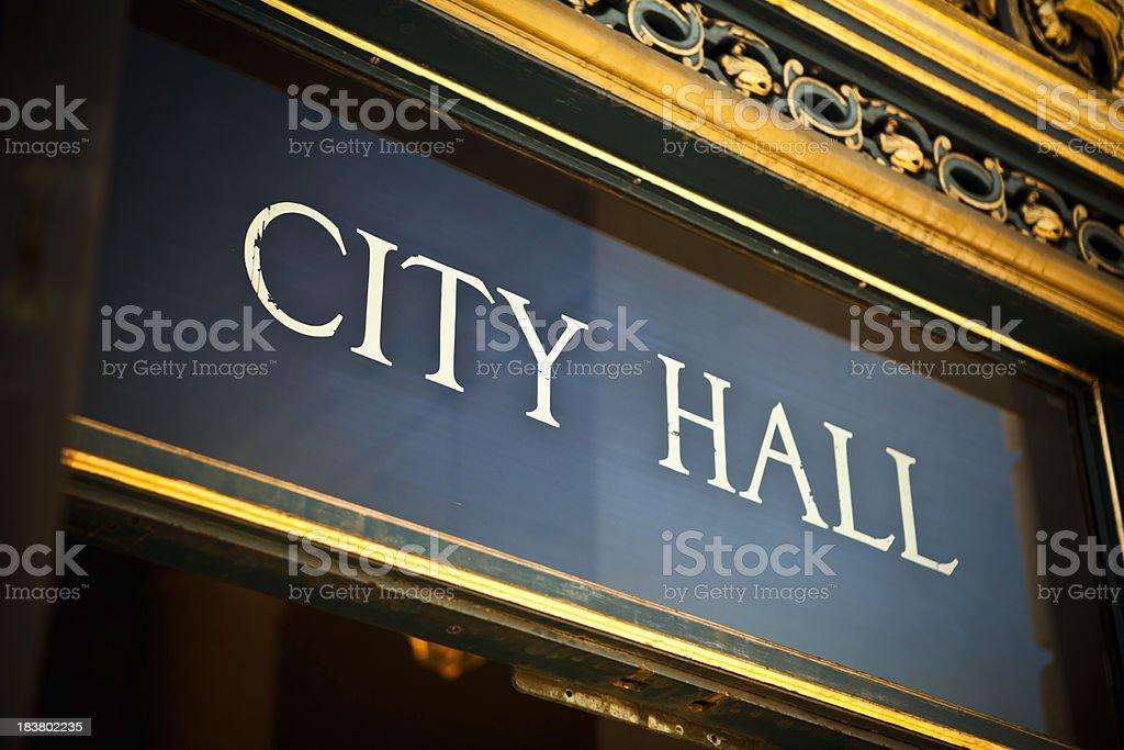 City Hall at the civic center, San Francisco, California, USA stock photo