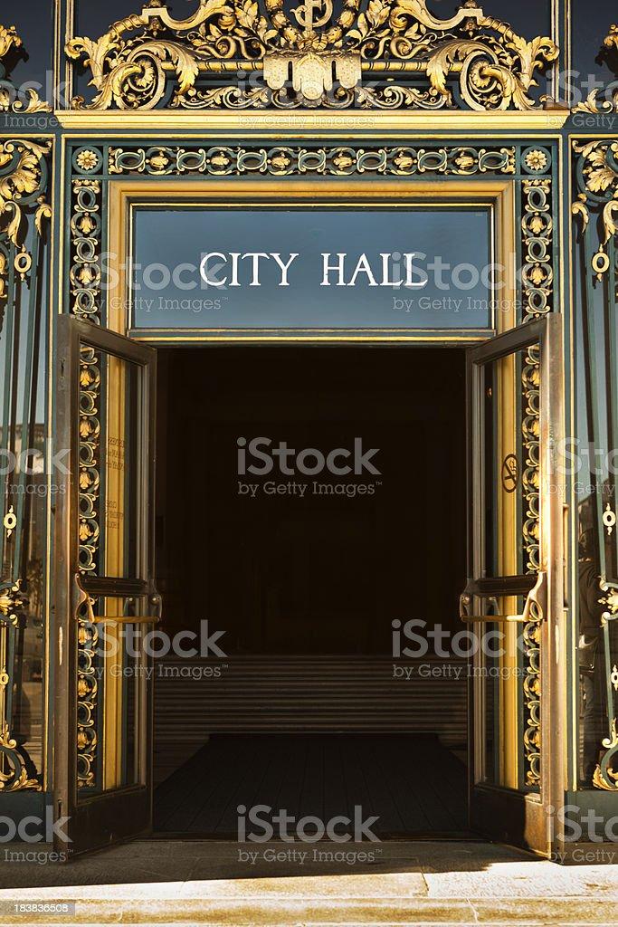 City Hall at the civic center, San Francisco, California, USA royalty-free stock photo
