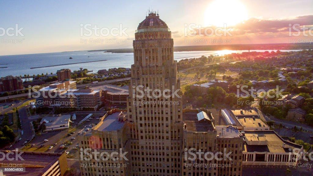 City Hall Buffalo stock photo