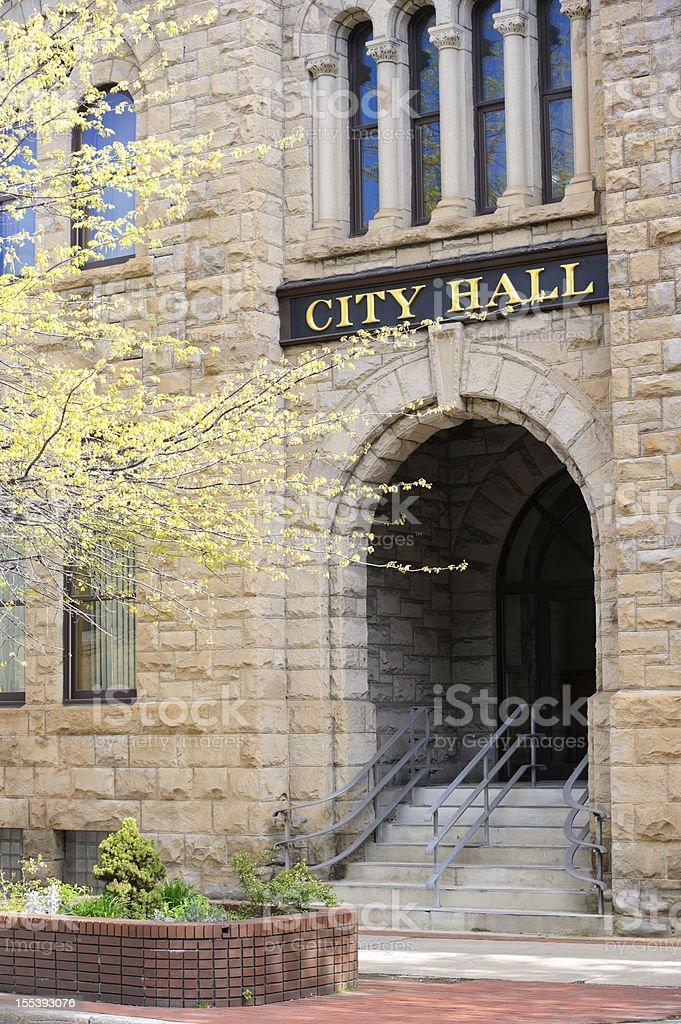 City Hall Building Entrance stock photo