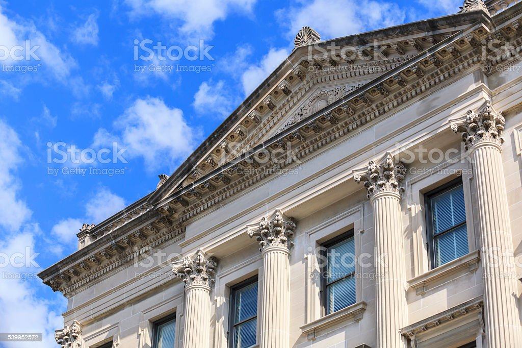 City Hall building in Bloomington Illinois stock photo