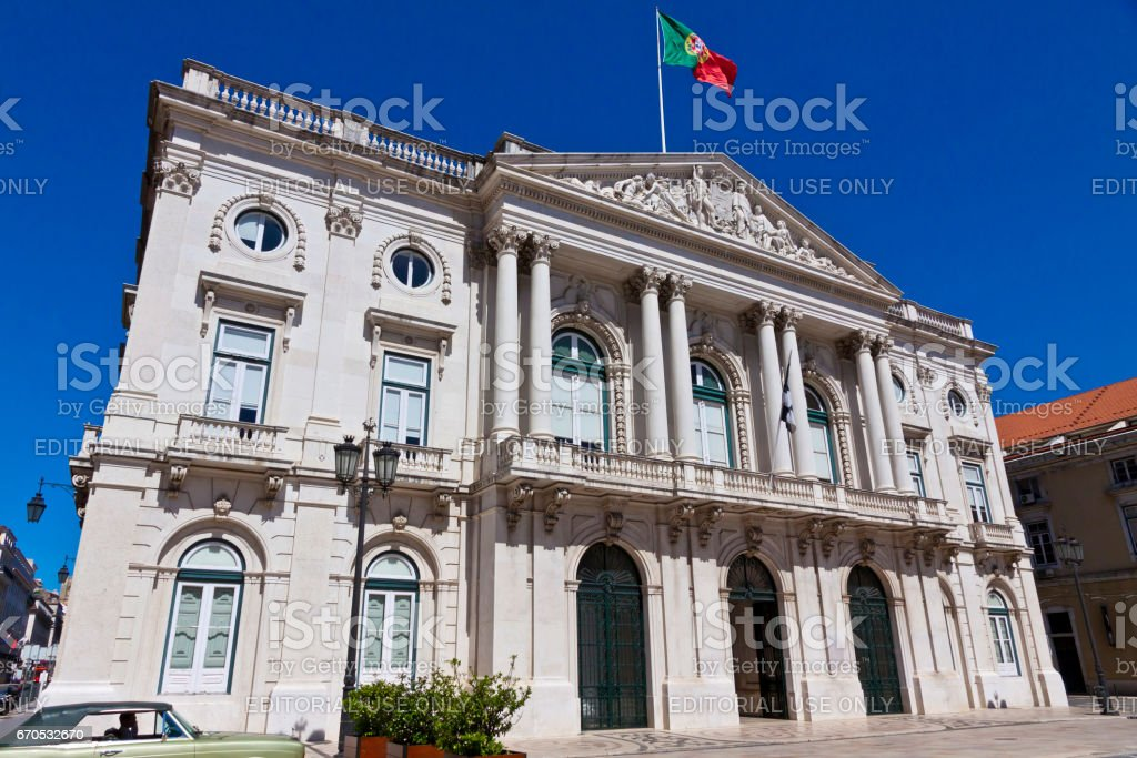 City Hall building in Lisbon, Portugal stock photo