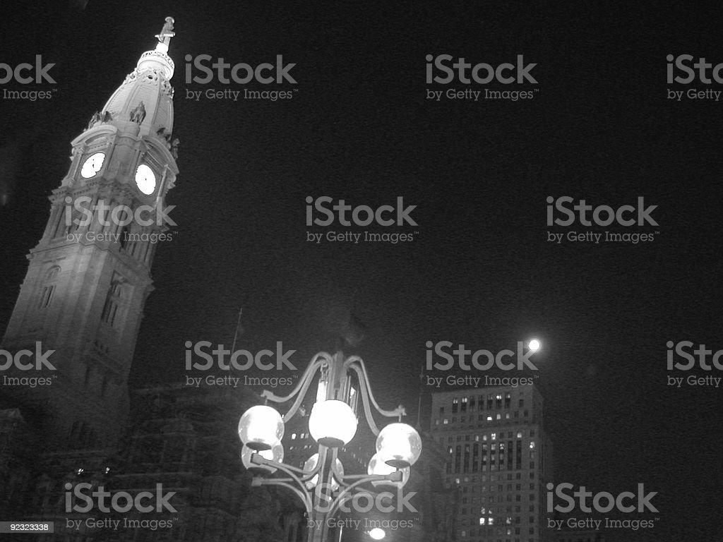 City Hall by Night royalty-free stock photo