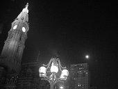 City hall at night time in Philadelphia, Pennsylvania.