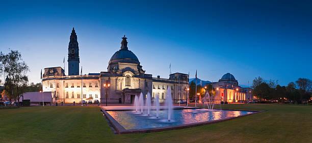 City Hall, Cardiff stock photo