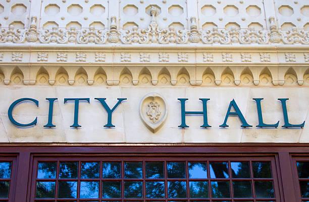 City Hall Close Up stock photo