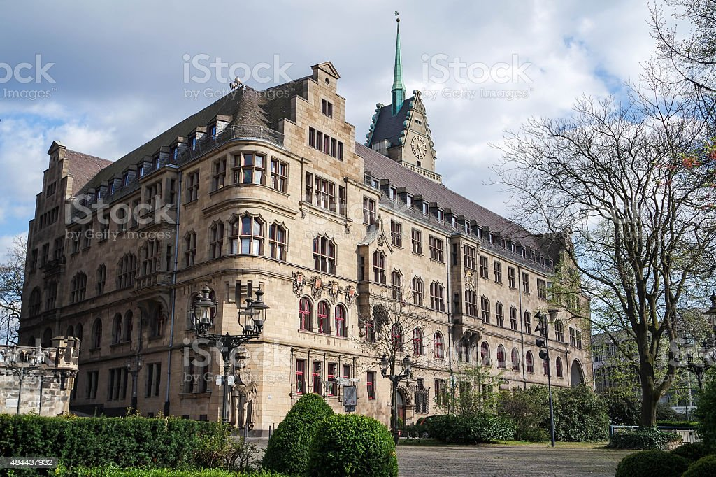 City hall - Duisburg - Germany stock photo