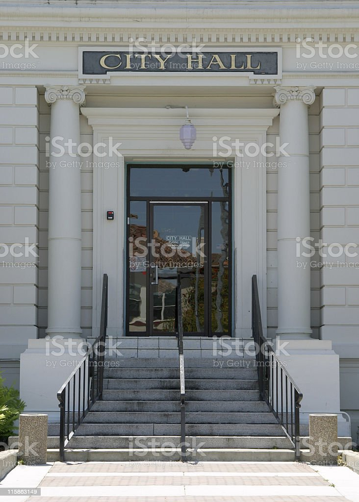 City Hall Entryway royalty-free stock photo