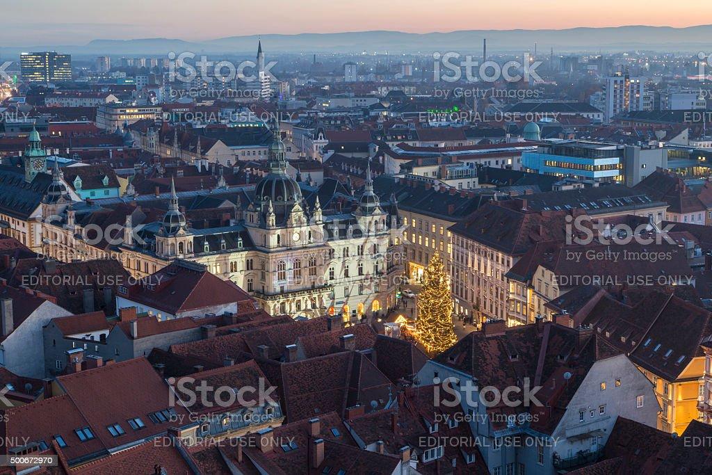 city hall graz stock photo