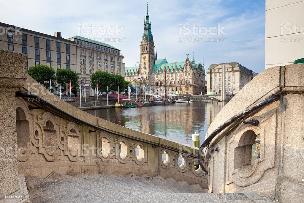 City Hall Hamburg royalty-free stock photo