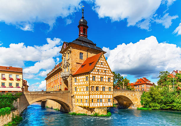 City Hall in Bamberg, Germany stock photo