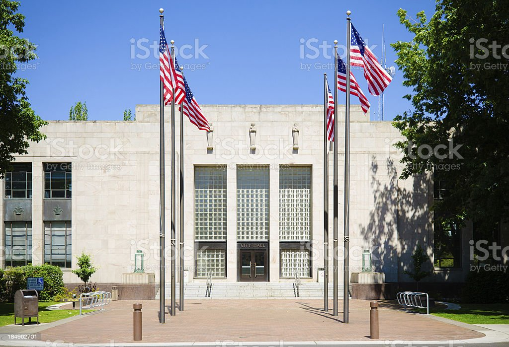 City Hall in Bellingham, WA stock photo