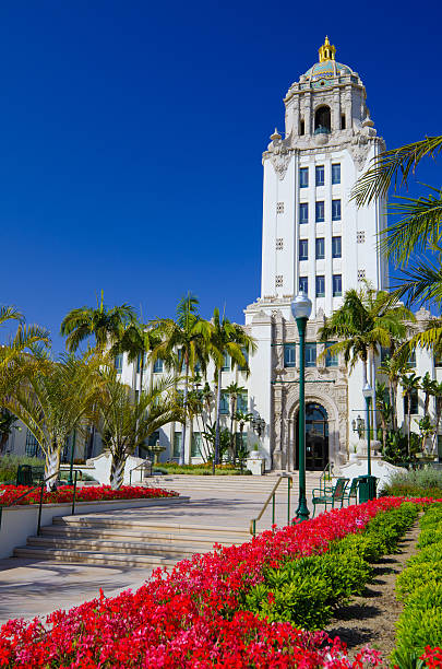 City Hall in Beverly Hills, CA stock photo