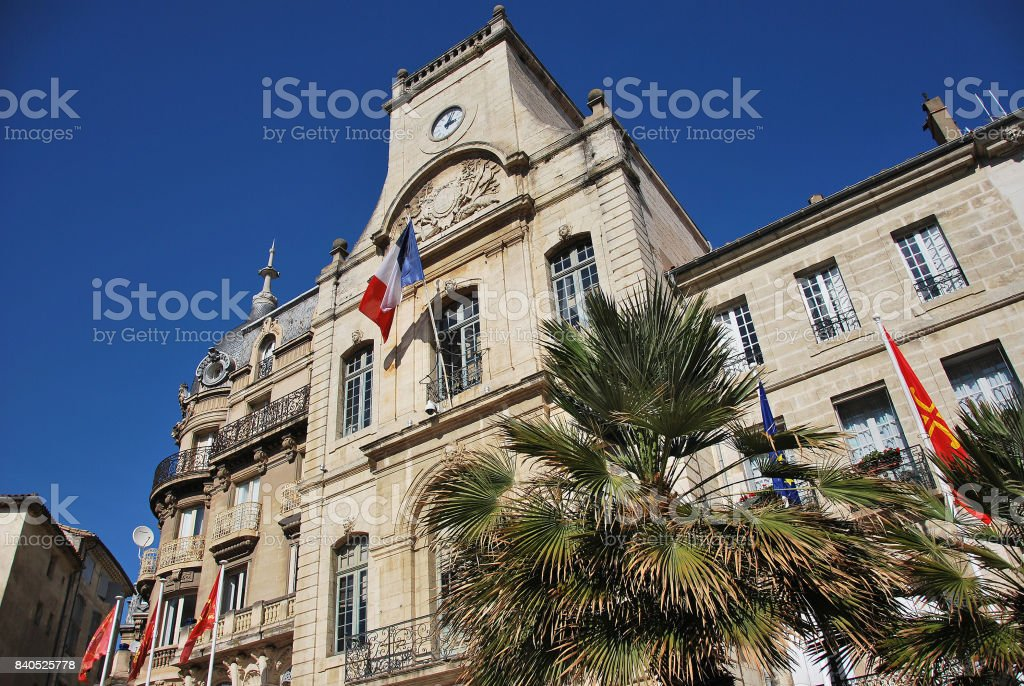 City hall in Beziers stock photo