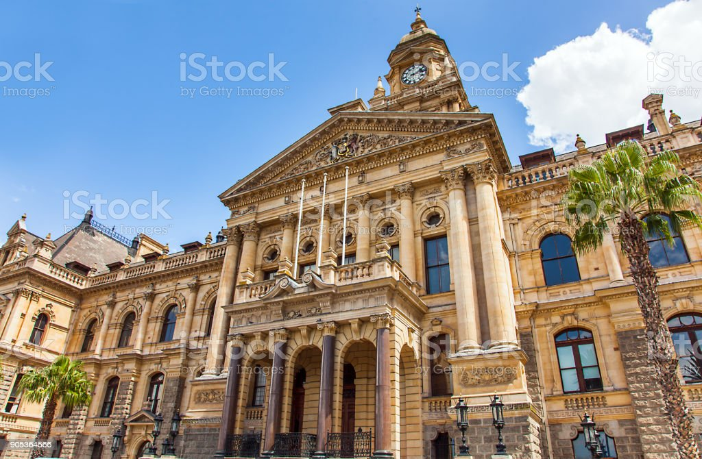 City Hall in Cape Town South Africa stock photo
