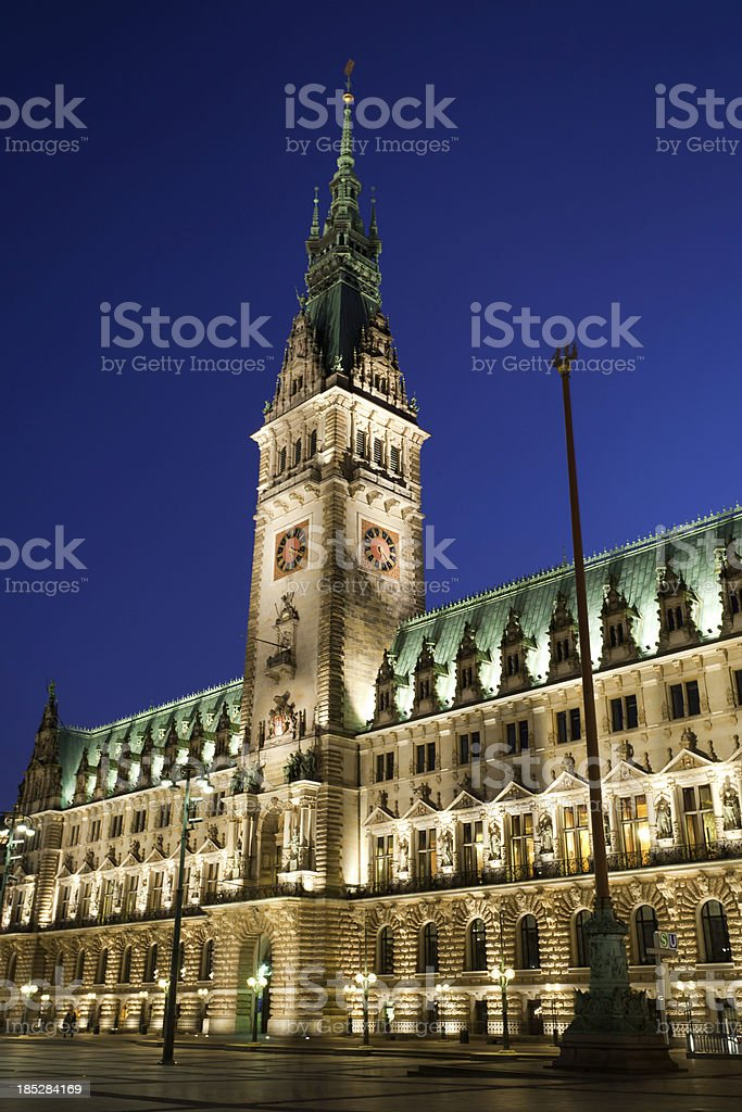 City Hall in Hamburg stock photo