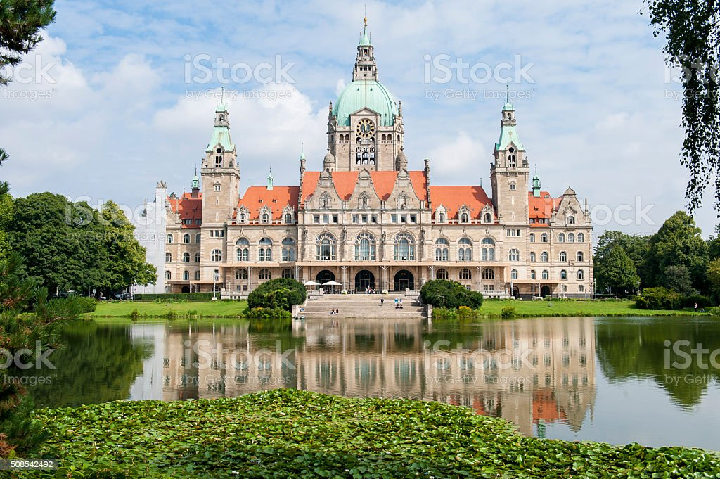City hall in Hanover at summer day stock photo