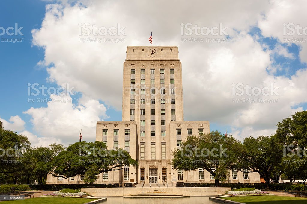 City Hall in Houston, Texas stock photo