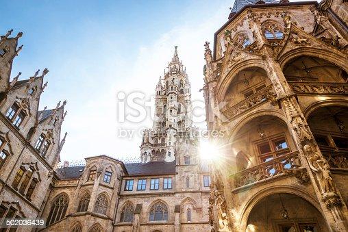 city hall at the Marienplatz in Munich, Germany