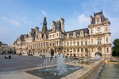 City Hall (Hotel de Ville) in Paris, France