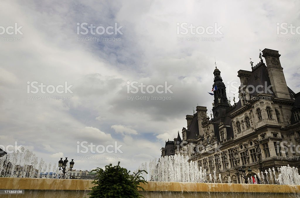 City Hall in Paris royalty-free stock photo