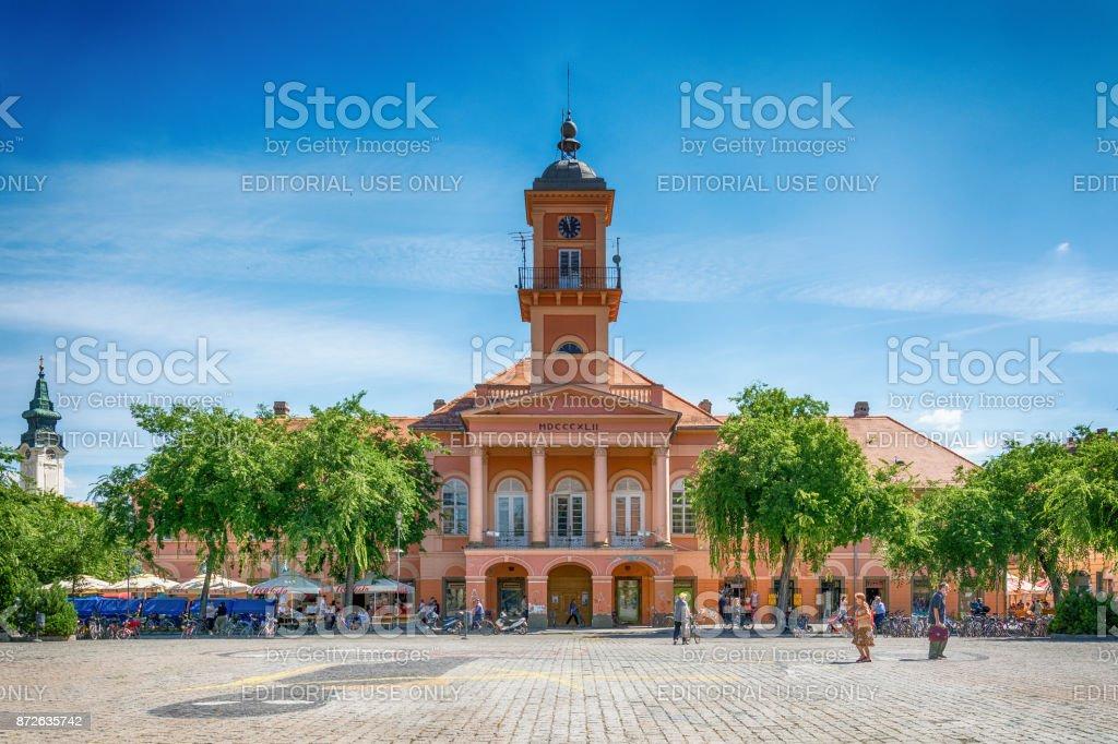 City hall in Sombor stock photo