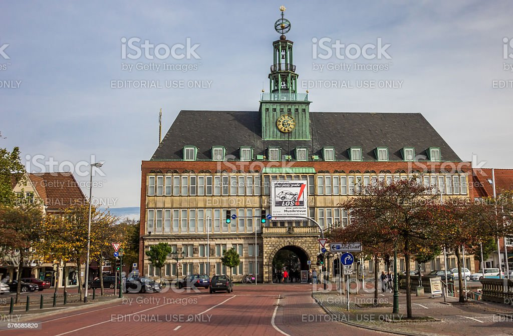 City hall in the center of Emden stock photo
