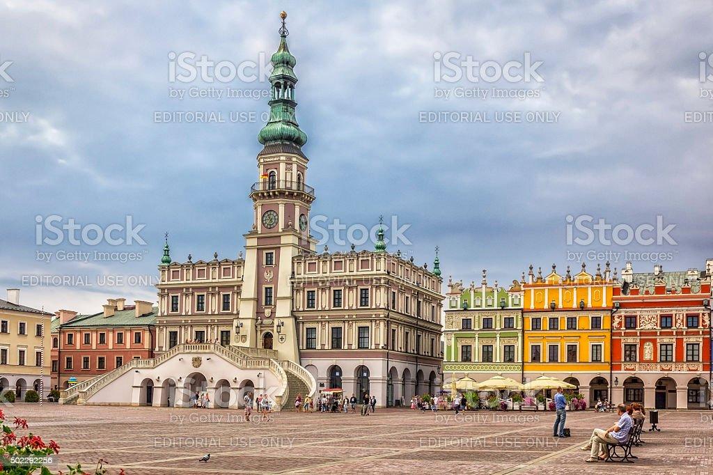 City Hall in Zamosc, Poland