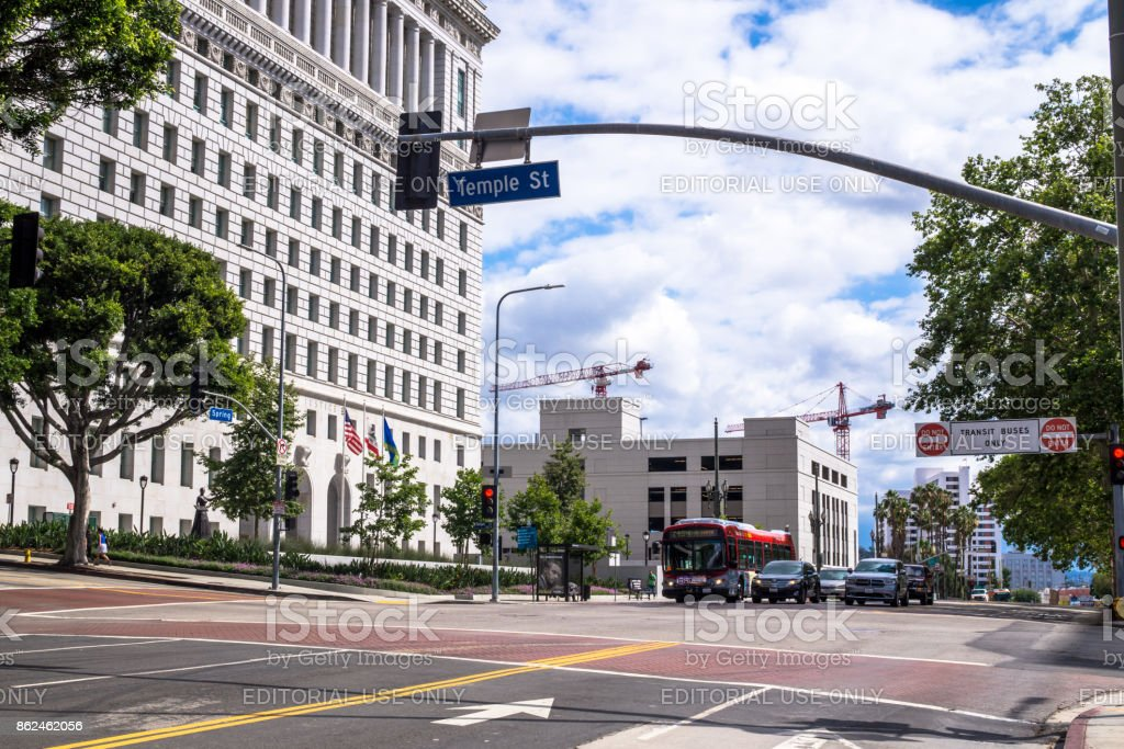 City Hall Los Angeles. Administrative Building of California State, USA stock photo