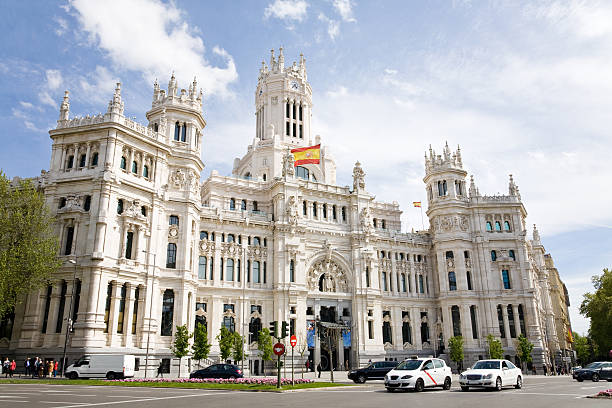 City Hall, Madrid The City Hall of Madrid or the former Palace of Communications, Spain town hall stock pictures, royalty-free photos & images