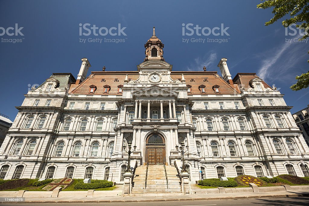 City Hall Montreal, Quebec, Canada royalty-free stock photo