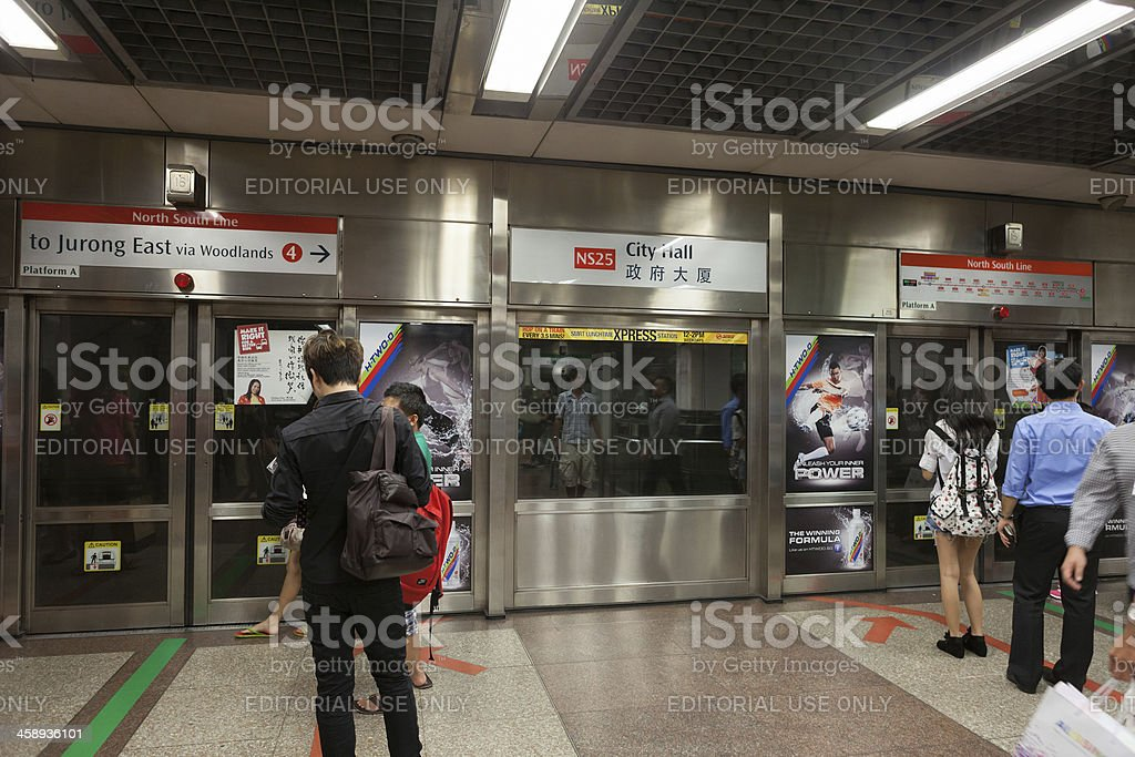 City Hall Mrt Station In Singapore Stock Photo Download Image Now Istock