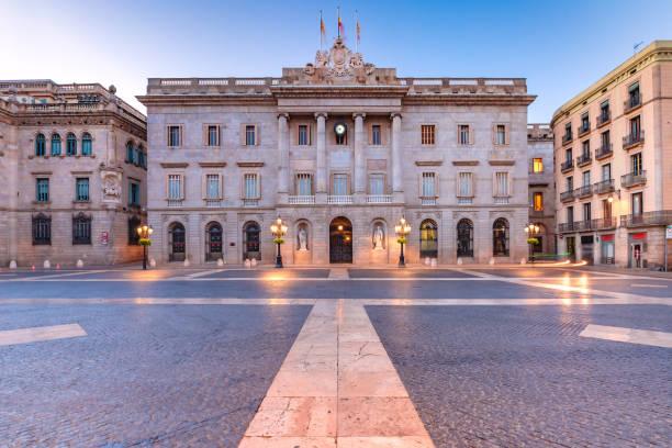 City Hall of Barcelona, Spain stock photo