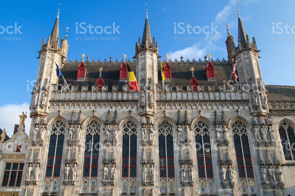 City Hall of Bruges stock photo
