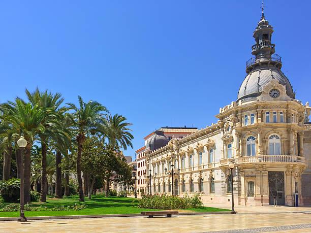 City hall of Cartagena in Spain stock photo