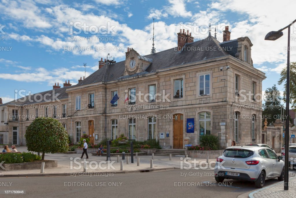 City hall of Chambly Chambly, France - September 09 2020: Town hall of Chambly in the city center near the church. Architecture Stock Photo