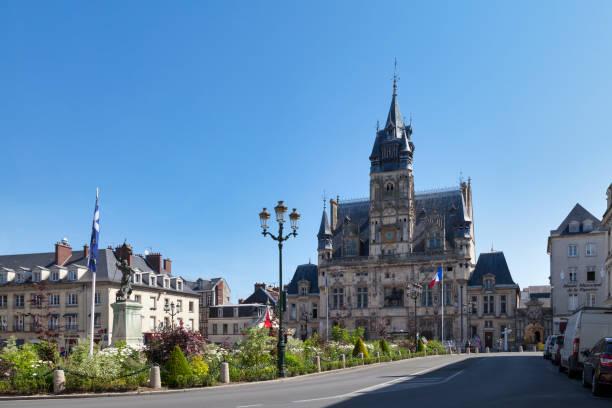 City hall of Compiègne stock photo