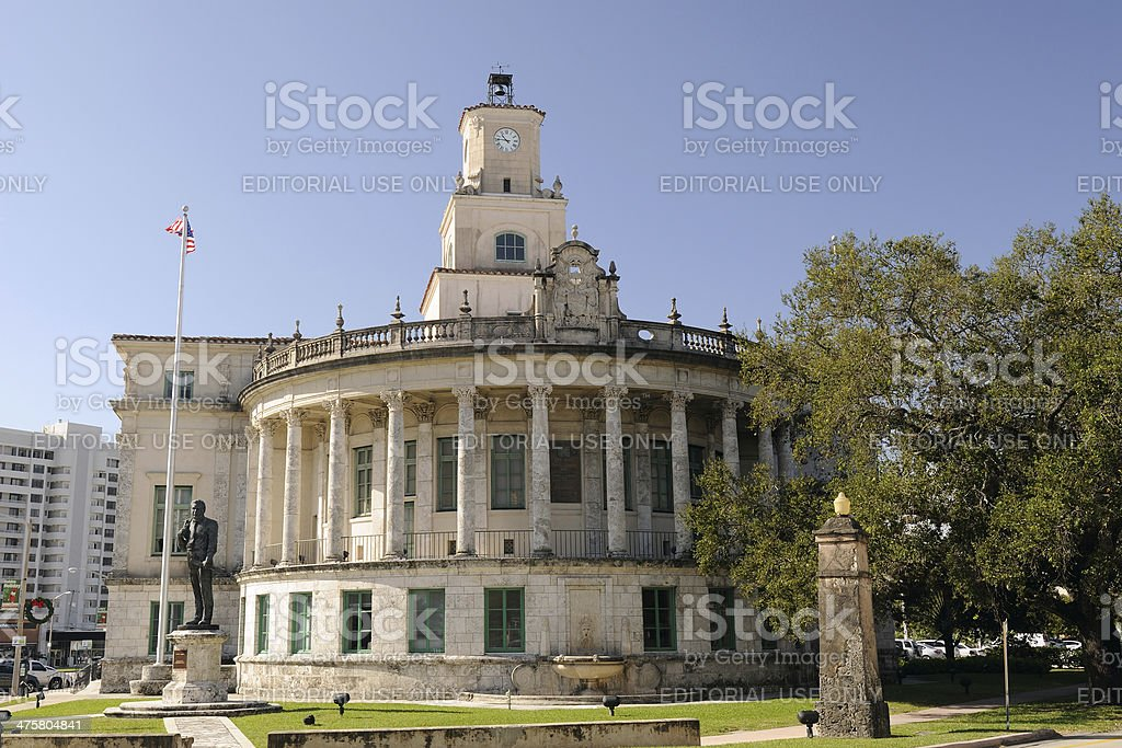 City Hall of Coral Gables stock photo