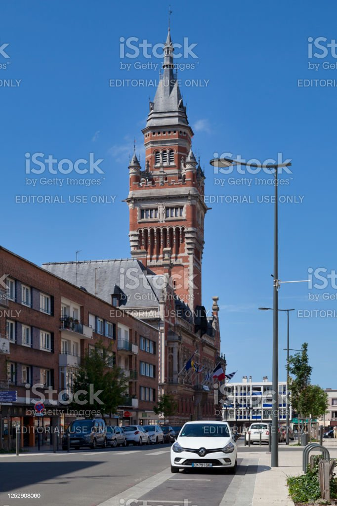 City hall of Dunkirk - Royalty-free Architecture Stock Photo