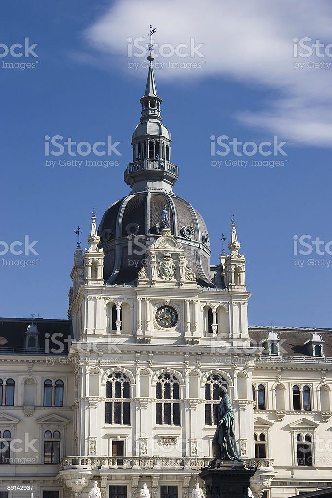 City hall of Graz (Ausria) royalty-free stock photo