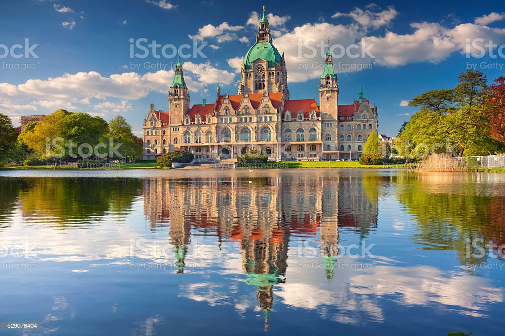 City Hall of Hannover. stock photo