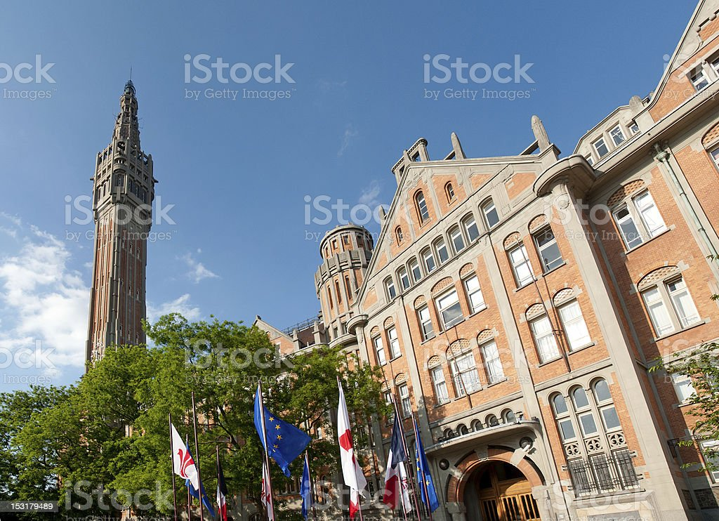 City hall of Lille - France stock photo