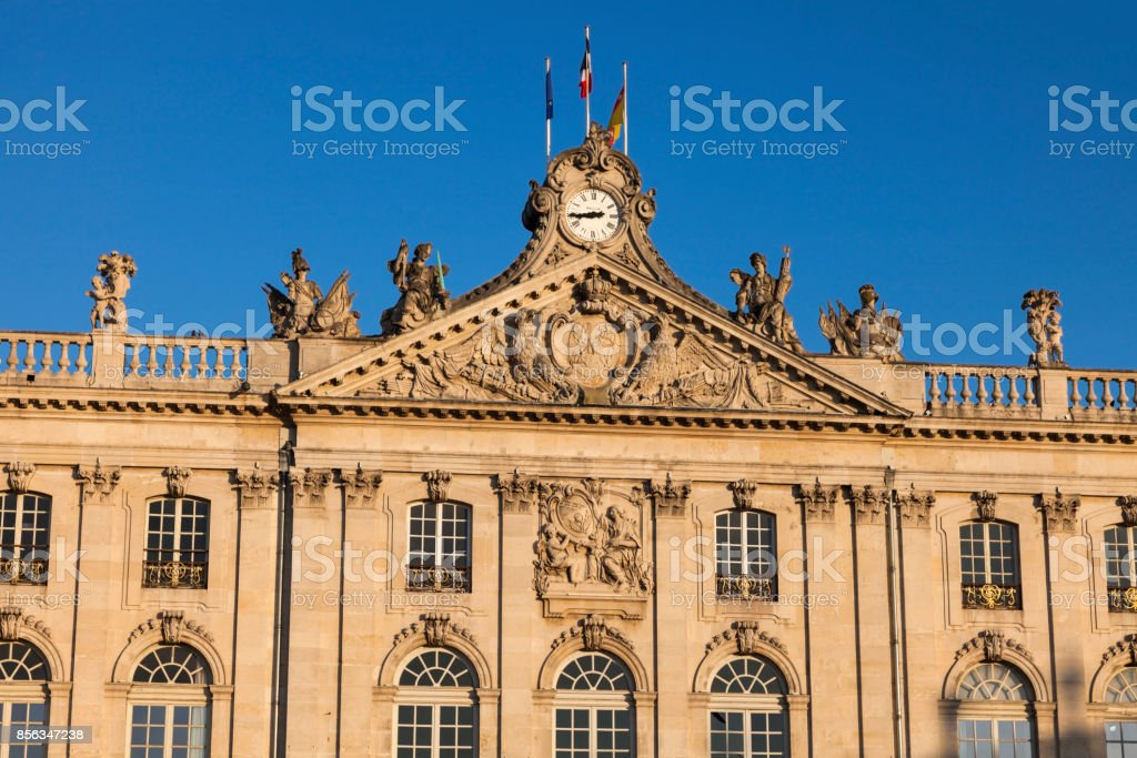 City Hall of Nancy - Hotel de Ville stock photo