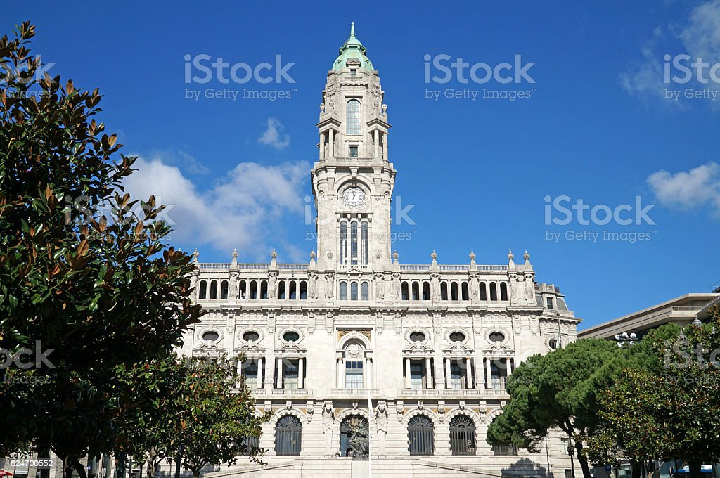 City Hall of Porto stock photo