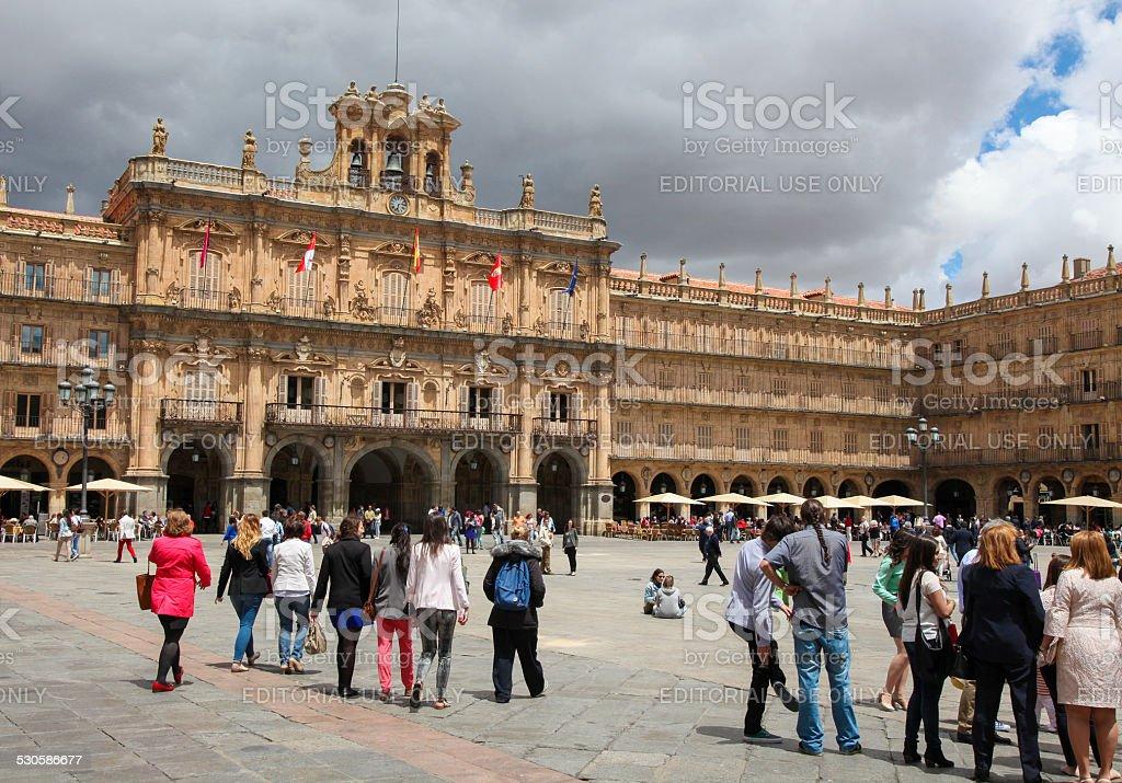City Hall of Salamanca, Spain stock photo
