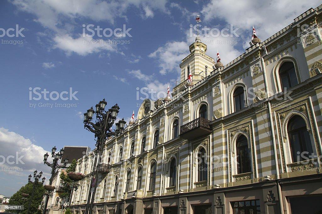 City hall of Tbilisi royalty-free stock photo