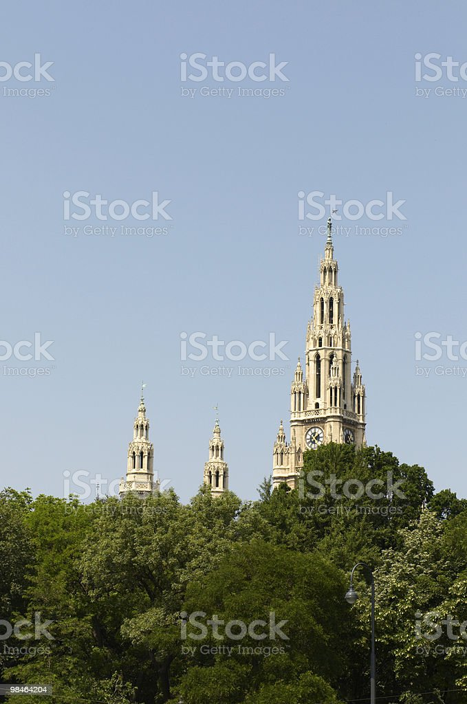 Municipio di Vienna foto stock royalty-free