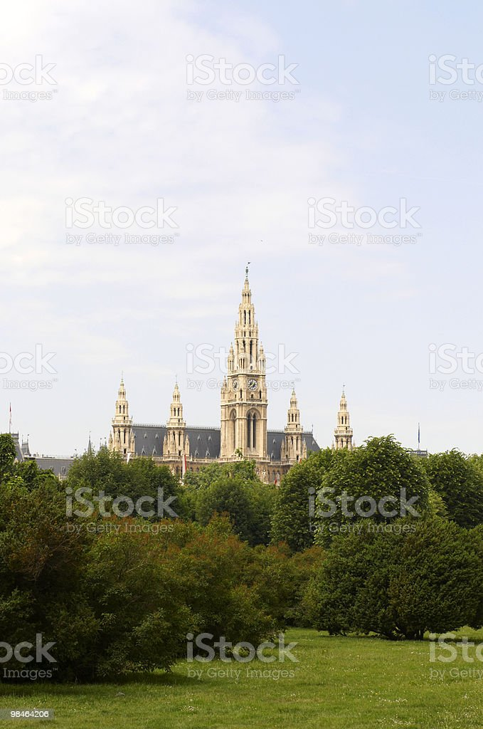 City hall of Vienna royalty-free stock photo