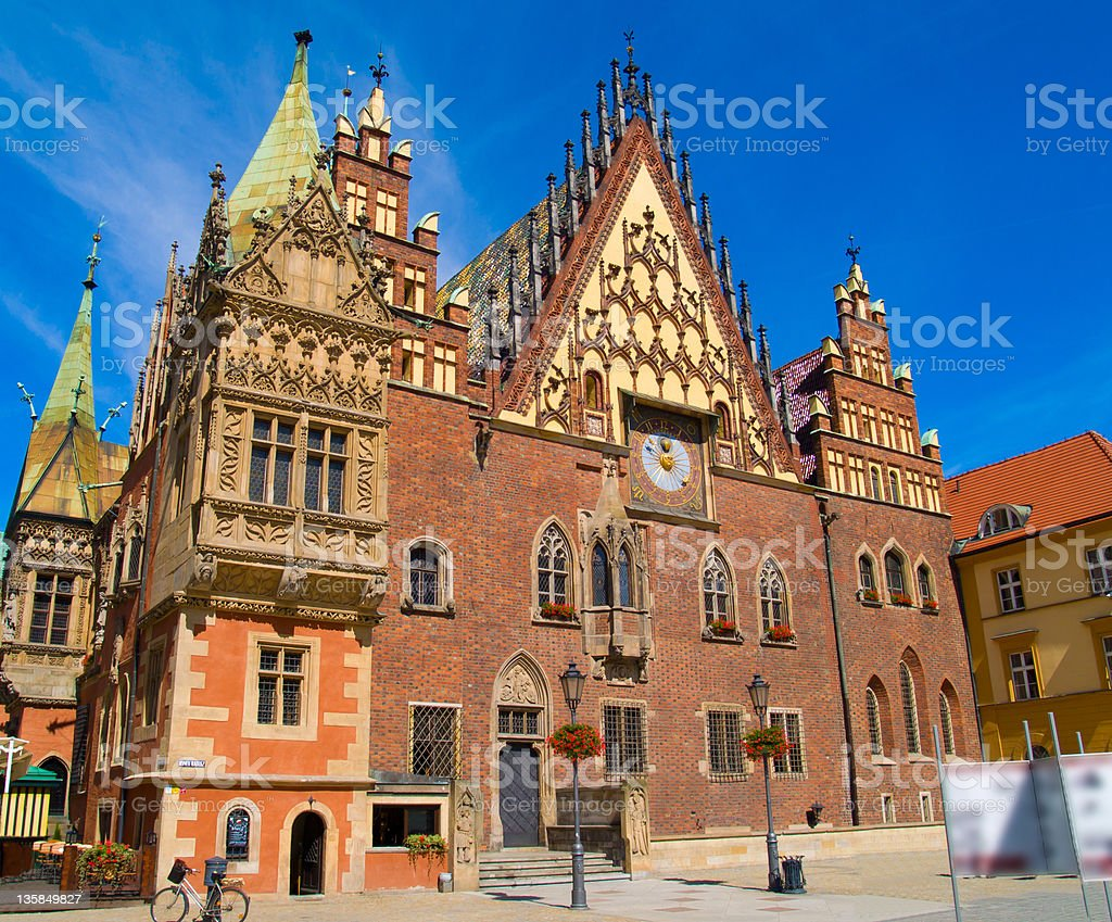 city hall of Wroclaw, Poland royalty-free stock photo